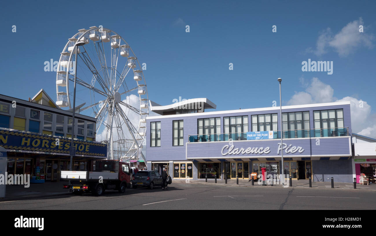 Clarence Pier, Southsea Seafront, Portsmouth, England, UK. Stock Photo