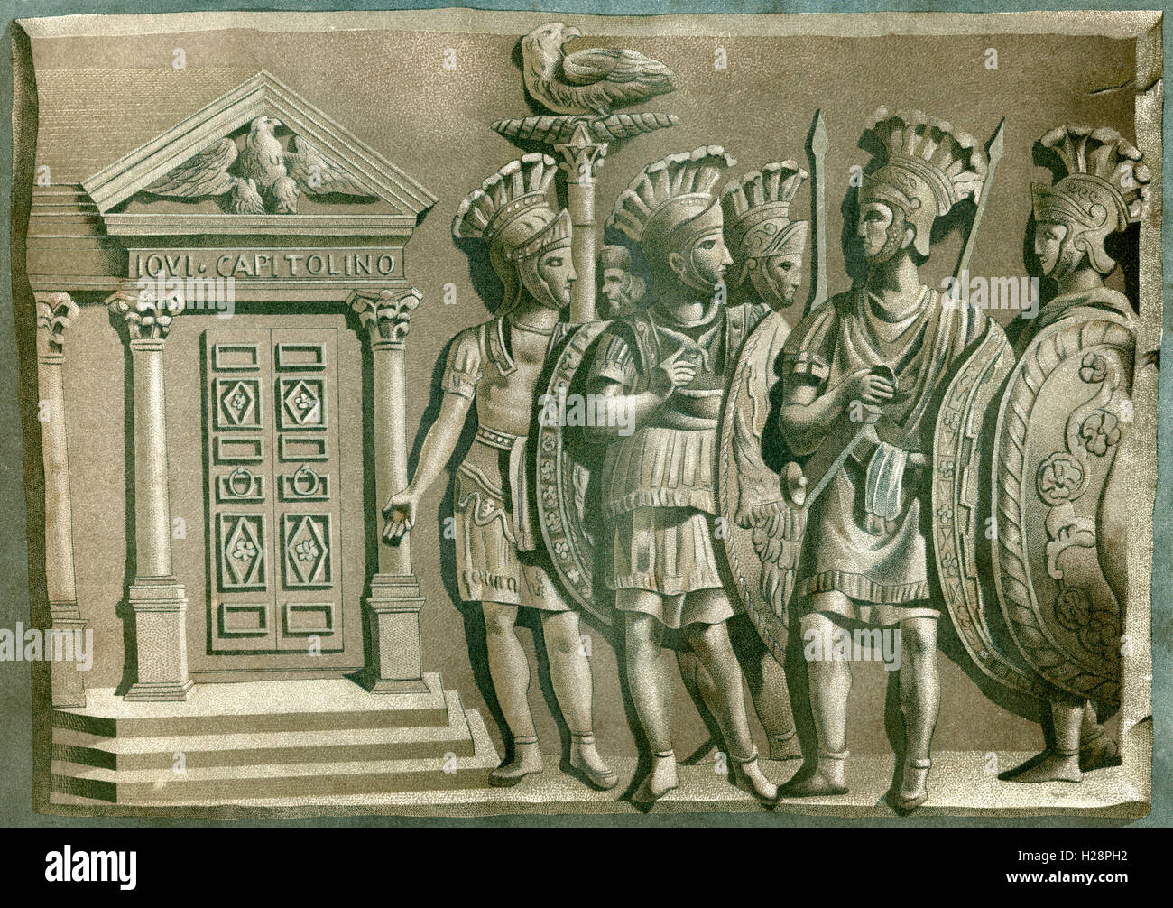 The Praetorian Guard,  a force of bodyguards used by Roman Emperors in ancient Rome. Stock Photo