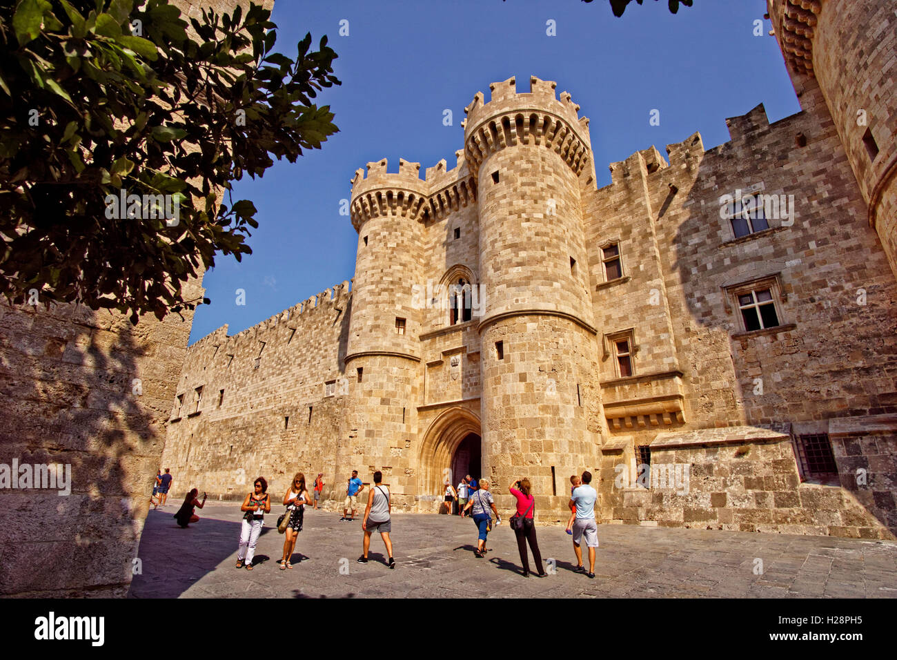 Palace of the Grand Master of Rhodes, Rhodes Island, Dodecanese Islands, Greece. - Stock Image