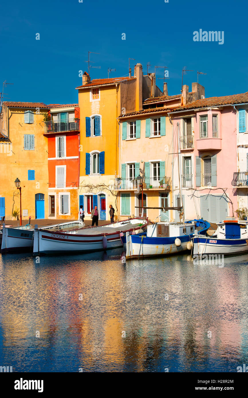 The village of Martigues in Provence, France - Stock Image