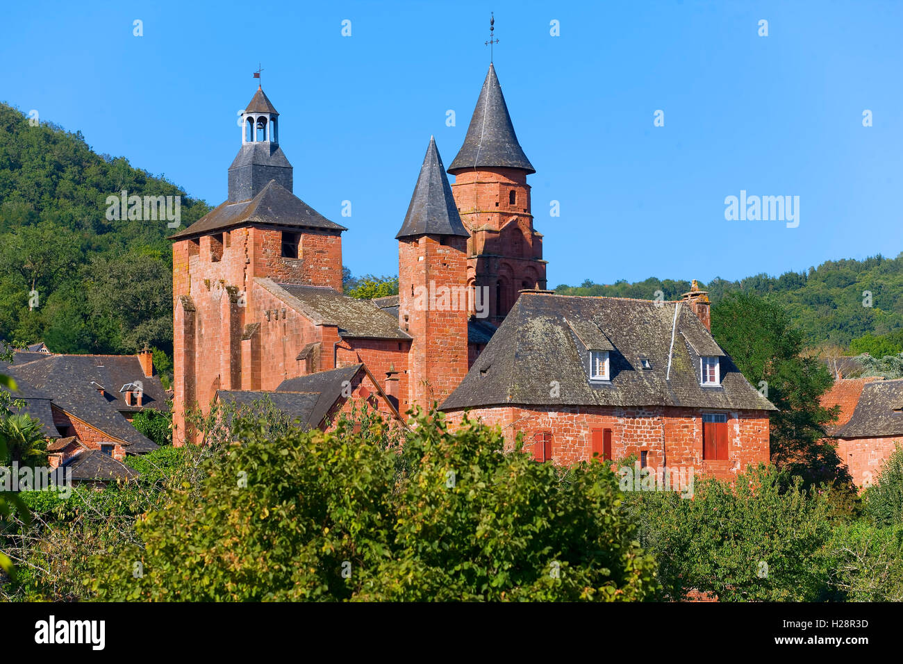 Collonges-la-Rouge village in Correze, France - Stock Image