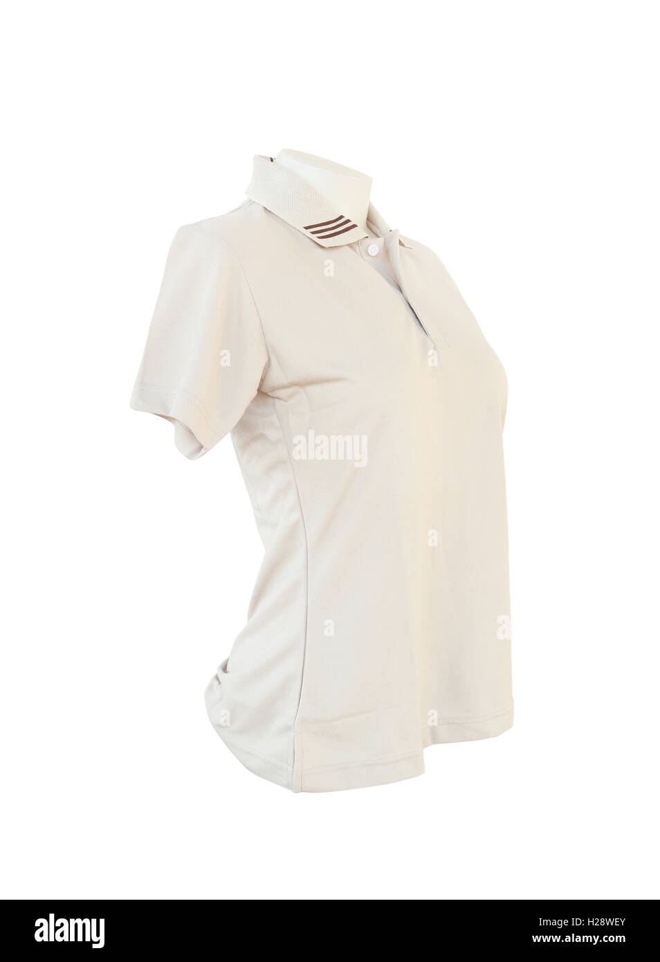 female shirt template on the mannequin on white background Stock ...