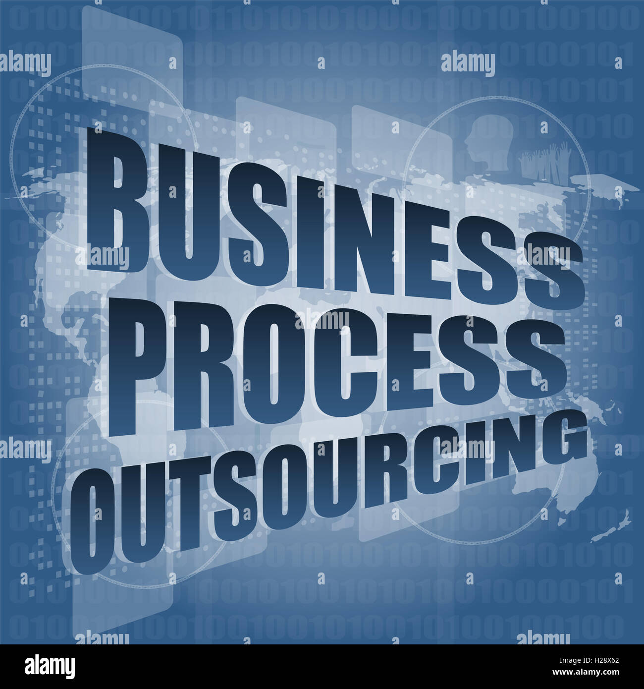 business process outsourcing interface hi technology - Stock Image