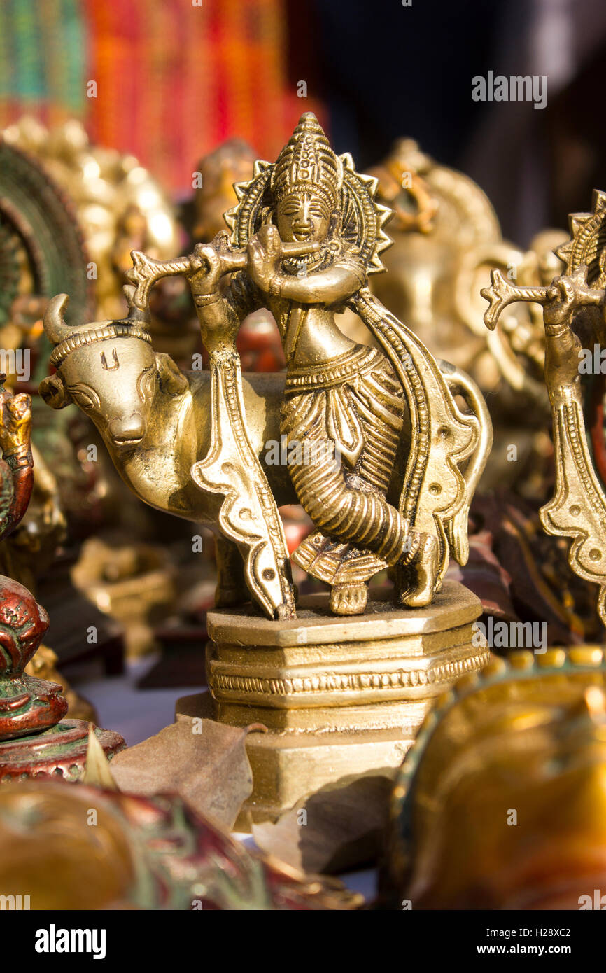 lord krishna statue - Stock Image