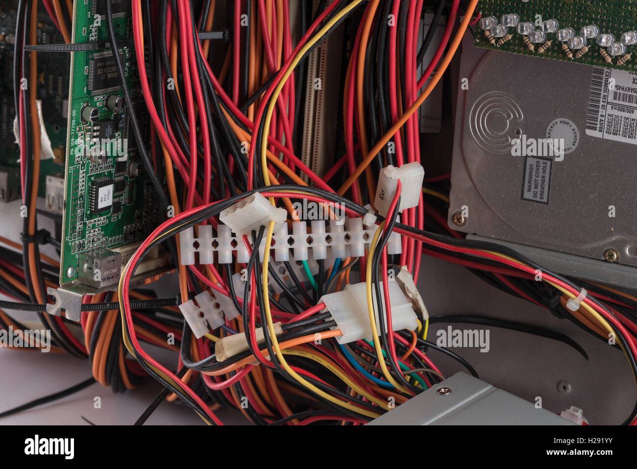 hard wiring a circuit board wiring diagram for you • masses of colored computer wires circuit board and harddrive rh alamy com circuit board pcb circuit board wiring gifs