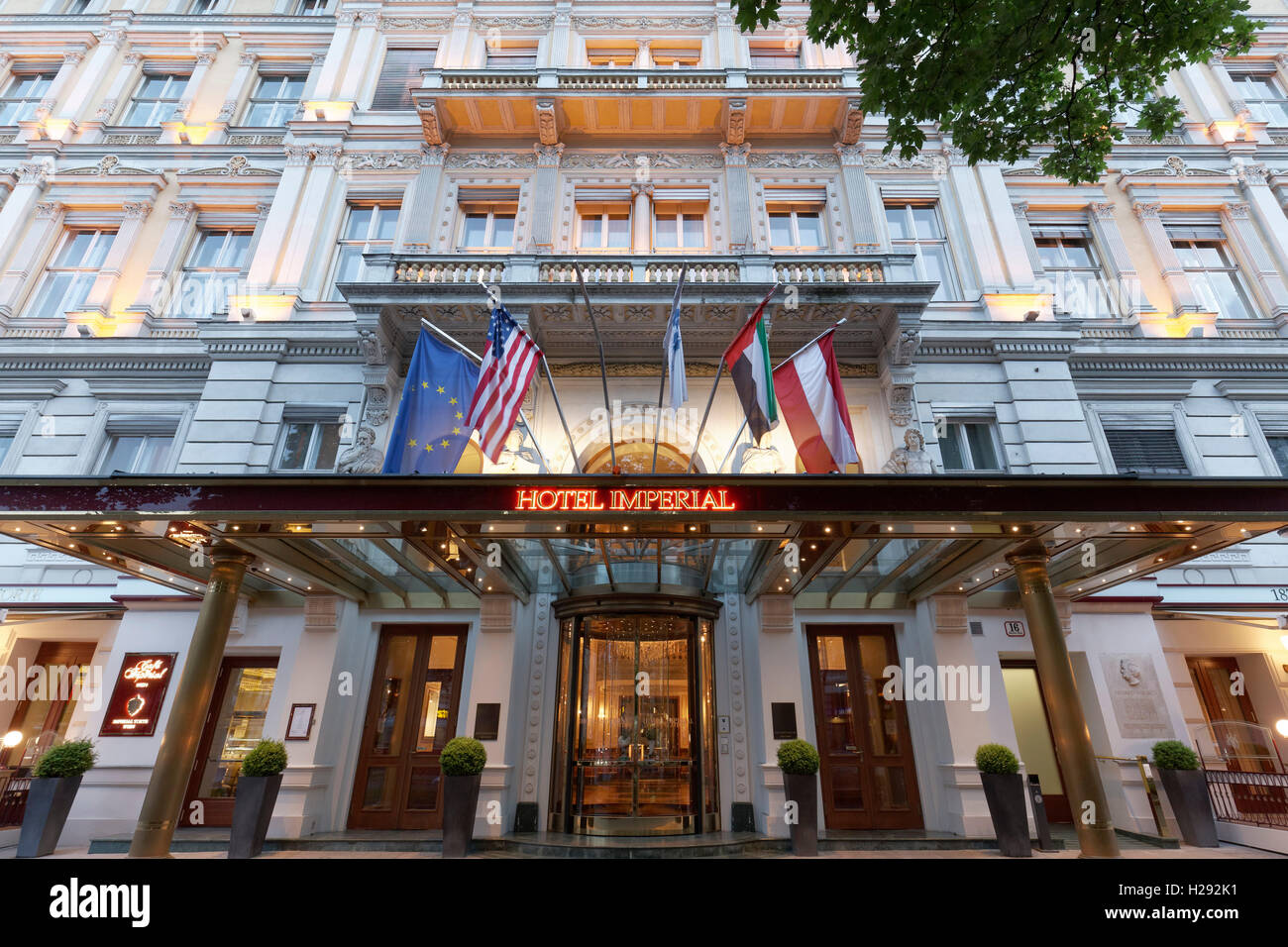 Hotel Imperial 5 Star Luxury Hotel Ringstrasse 1st District Stock
