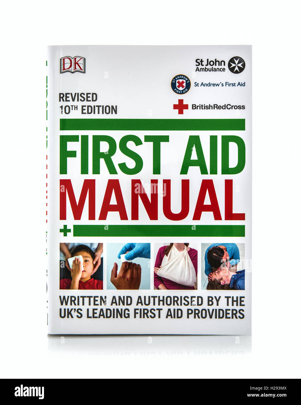 First Aid Manual on a white background - Stock Image
