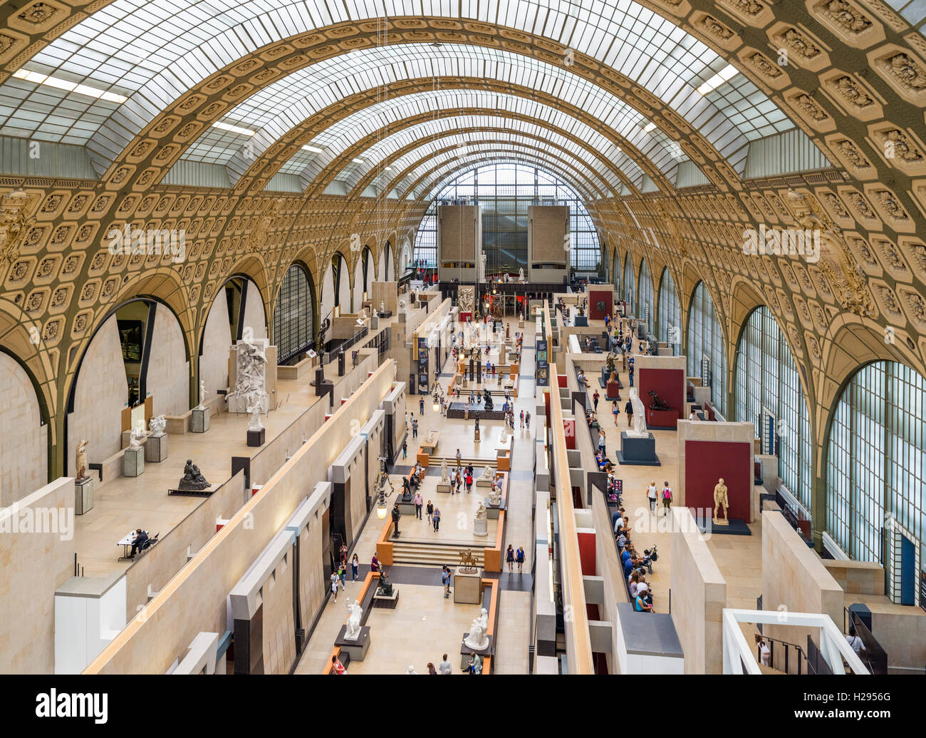 Interior of the Musée d'Orsay, Paris, France - Stock Image