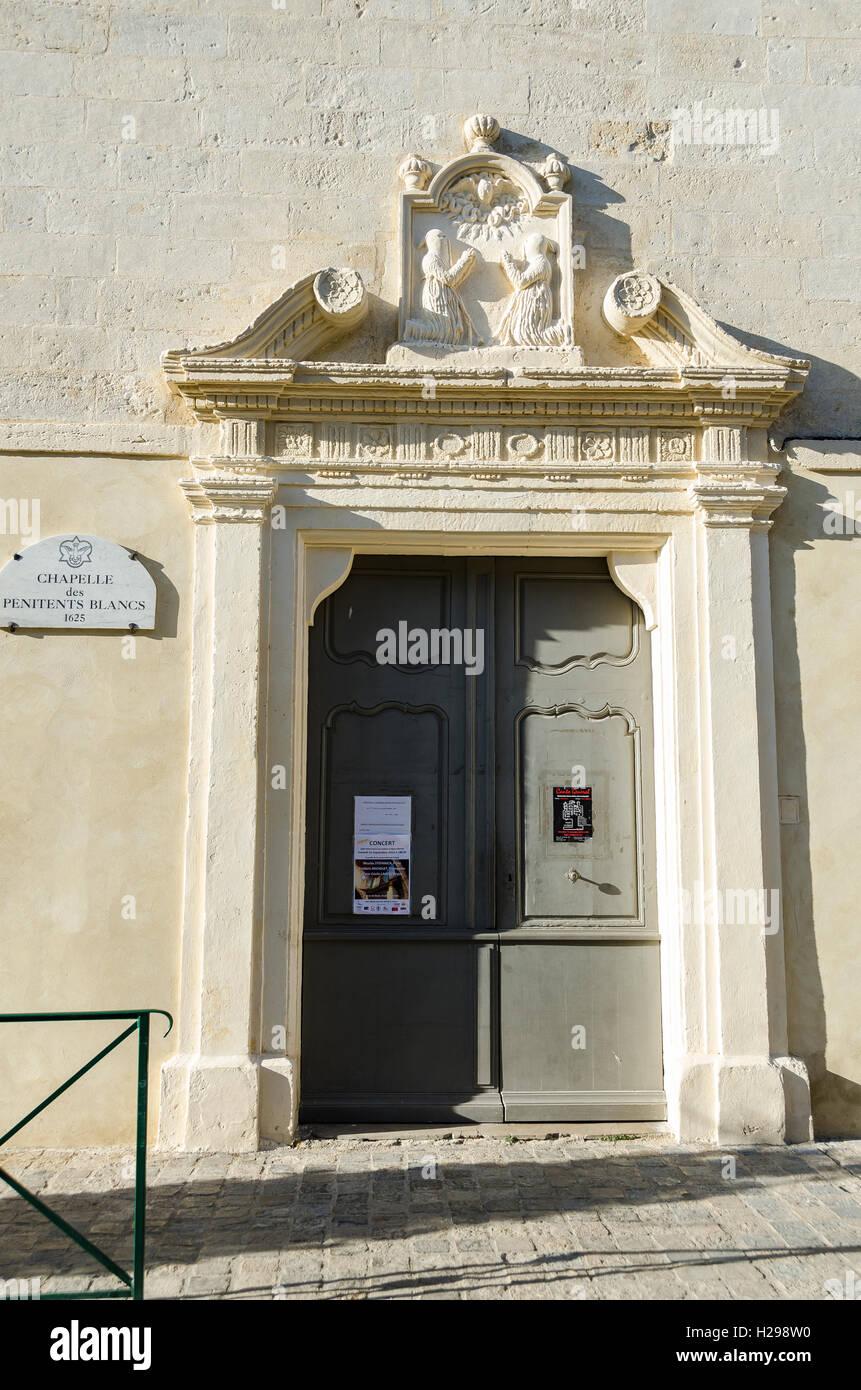 porte chapelle, Aigues Mortes, Gard, Provence, France - Stock Image