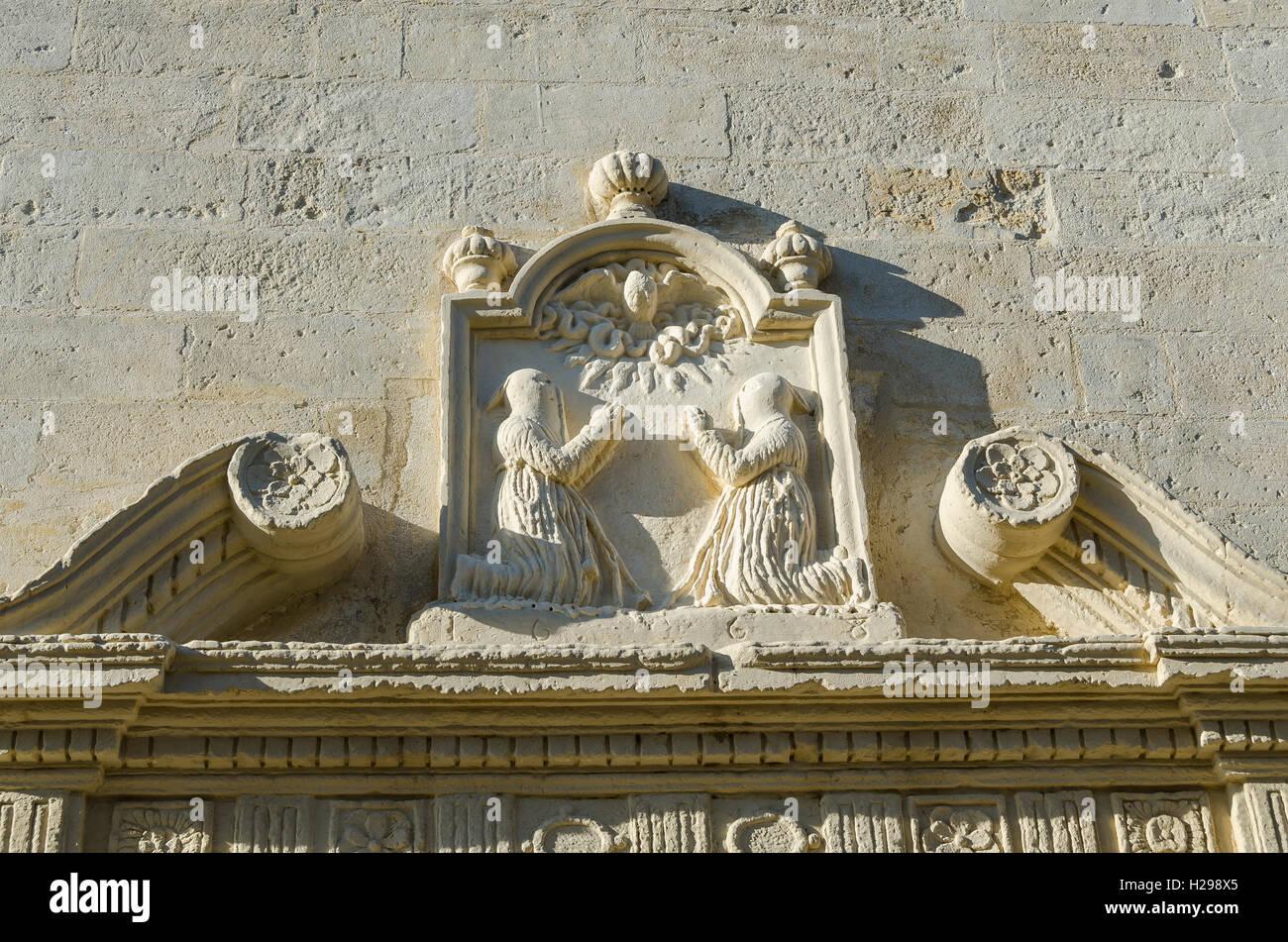 chapelle, Aigues Mortes, Gard, Provence, France - Stock Image