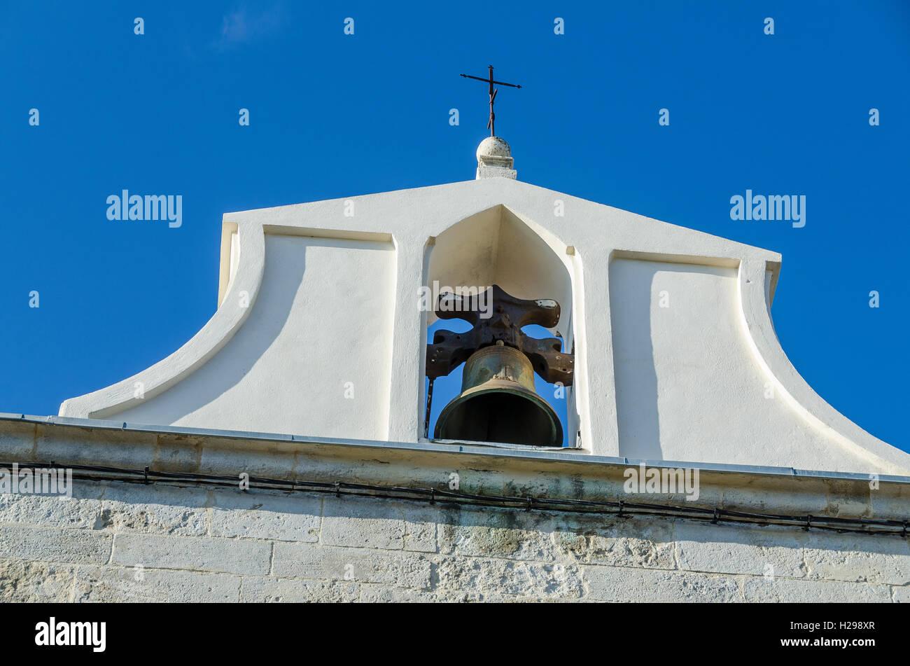 clocher, Aigues Mortes, Gard, Provence, France - Stock Image