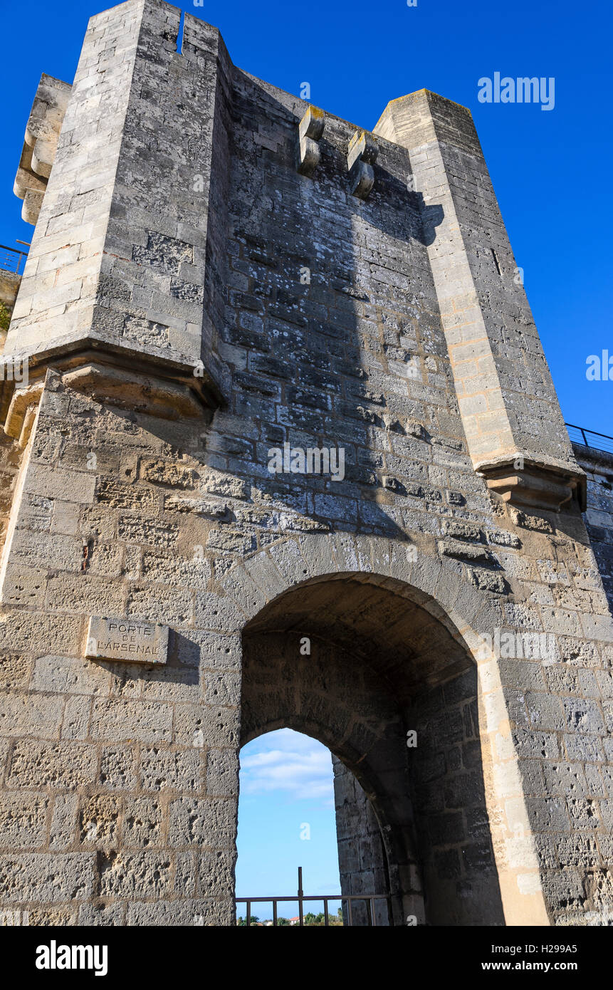 Remparts, Aigues Mortes, Gard, Provence, France - Stock Image