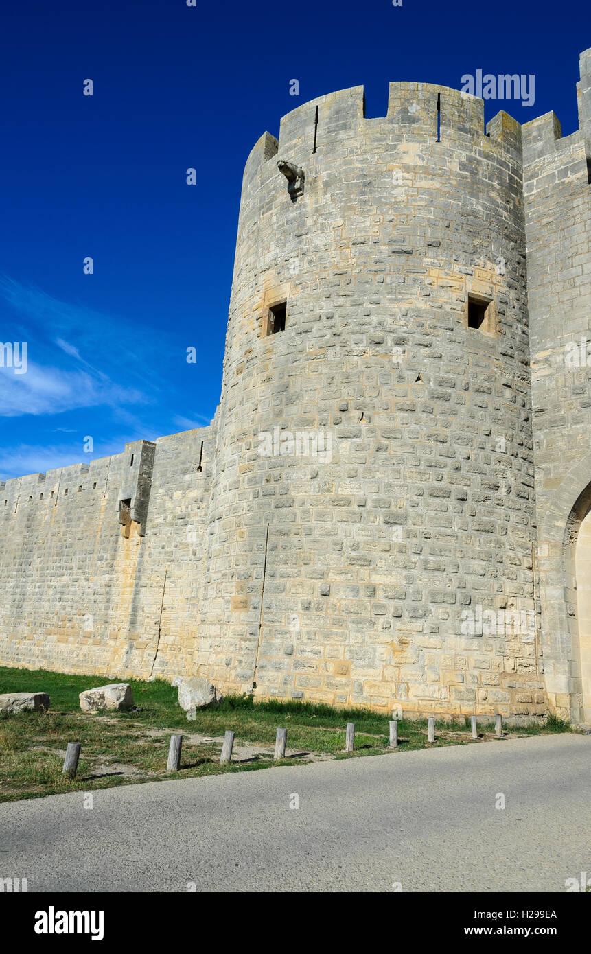 Remparts, Aigues Mortes, Gard, Provence, France - Stock Image
