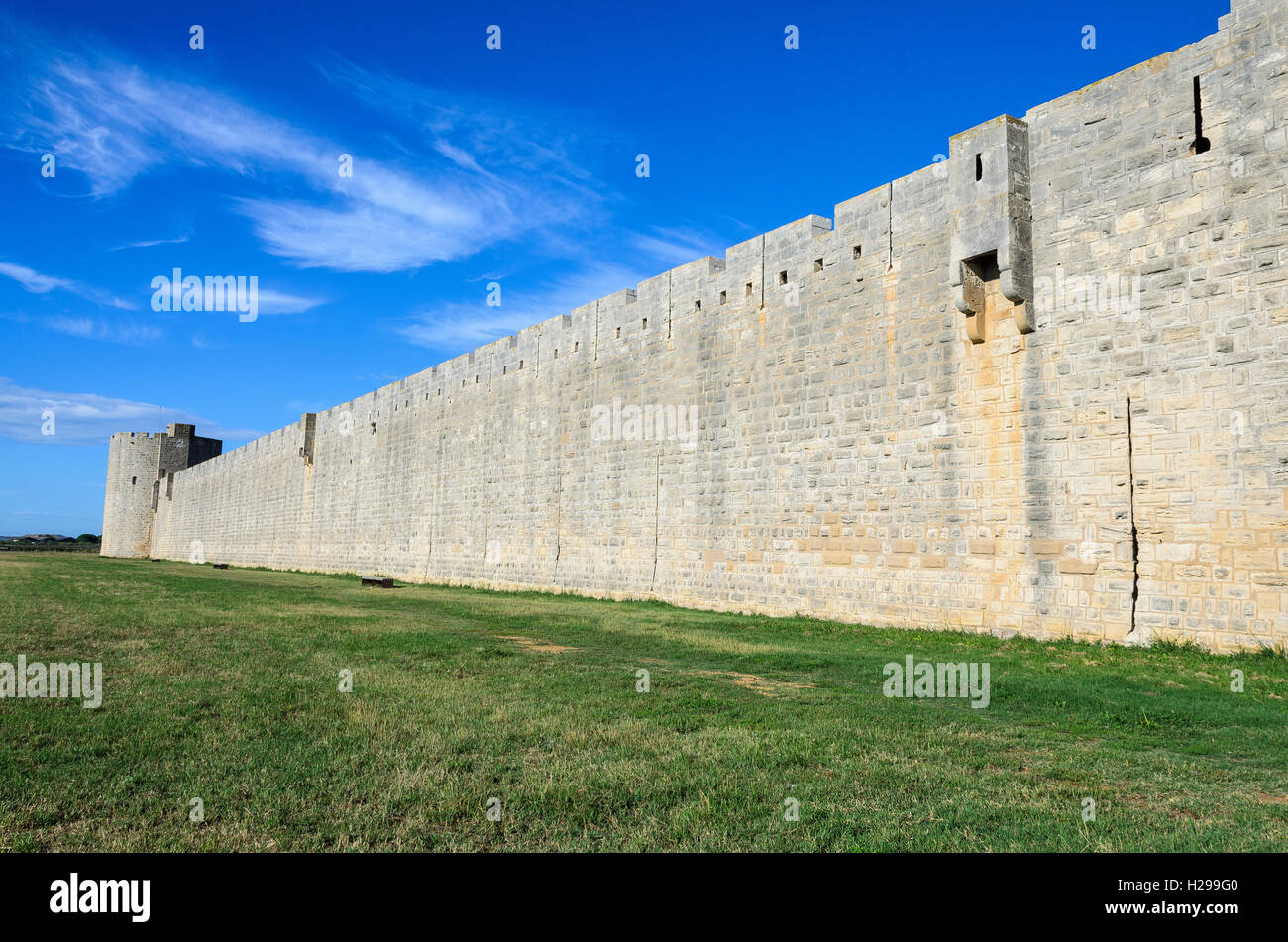Remparts, Aigues Mortes, Gard, France - Stock Image