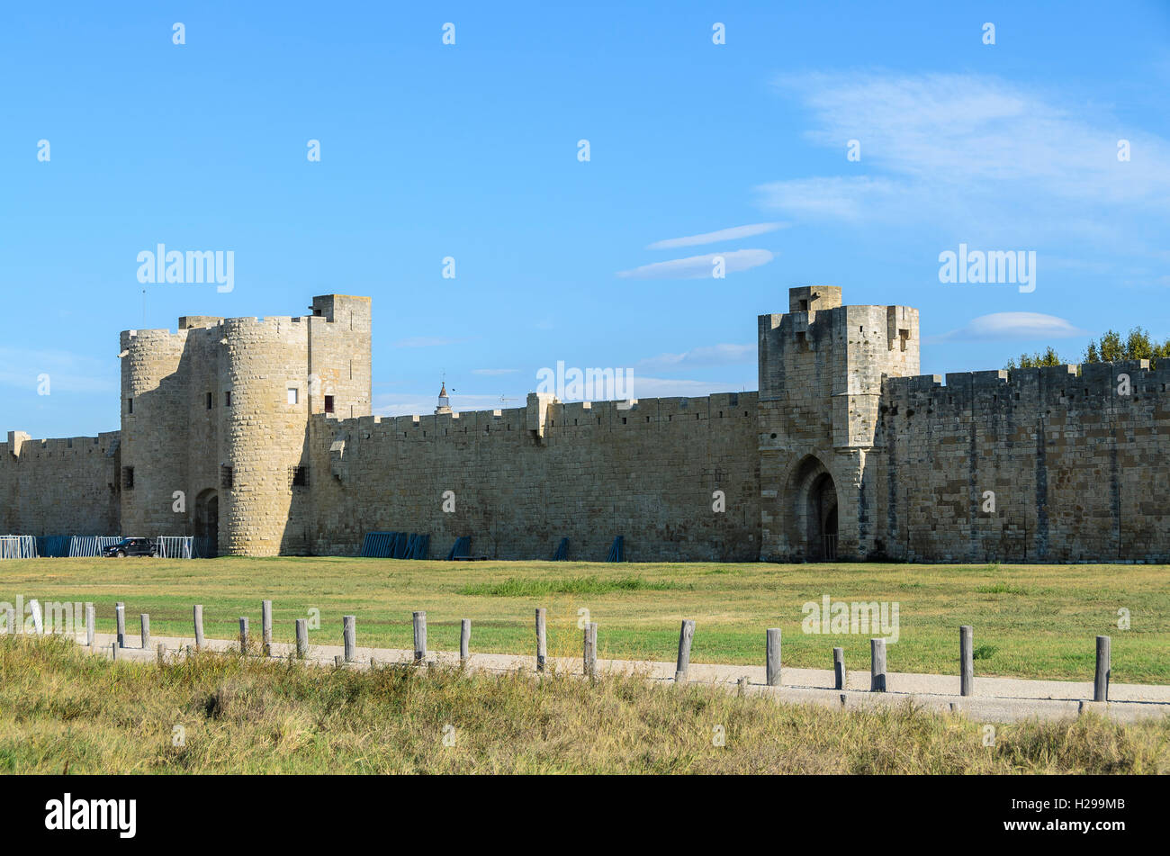 Aigues Mortes, remparts, Gard, France - Stock Image