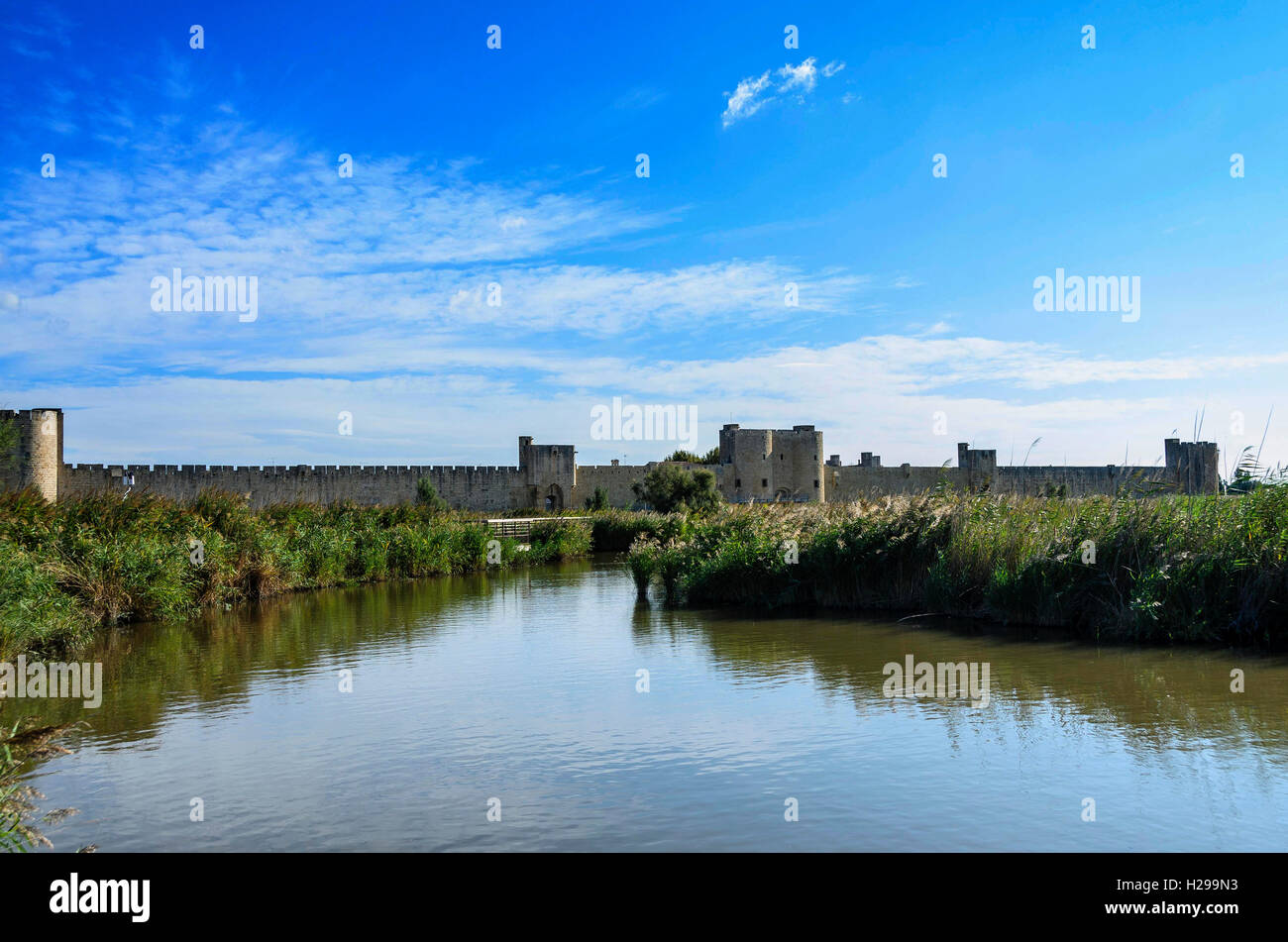 Aigues Mortes, remparts, Gard, France - Stock Image