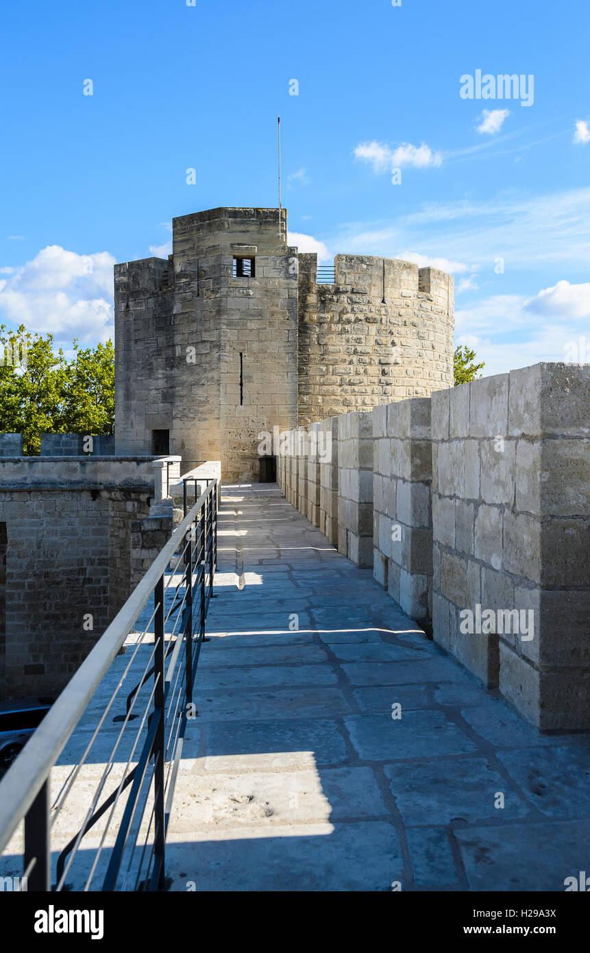 Remparts Aigues Mortes, Gard, France - Stock Image