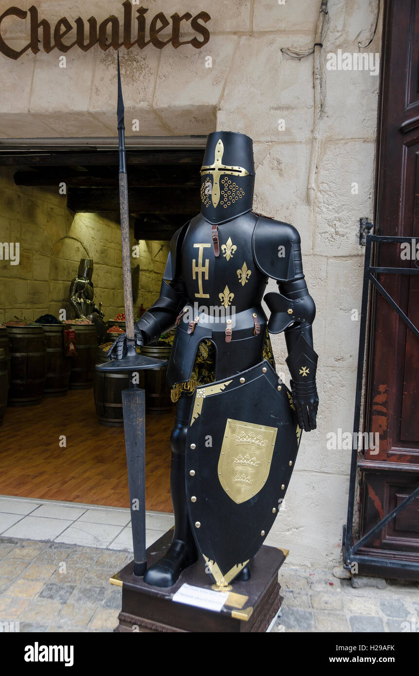 Armure, Aigues Mortes, remparts, Gard, France - Stock Image