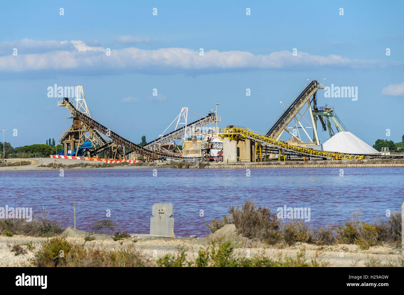 Salins, Aigues-Mortes, Gard, France - Stock Image