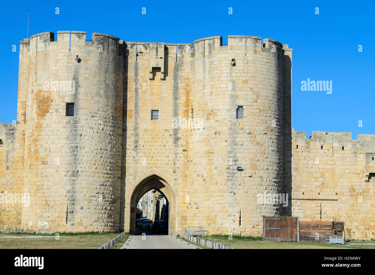 Remparts, Aigues Mortes, Gard, Provence, France Stock Photo