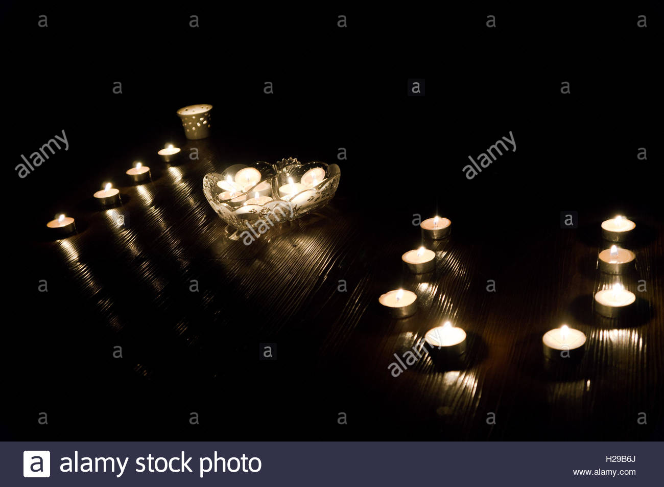 I love you in candlelight - Stock Image