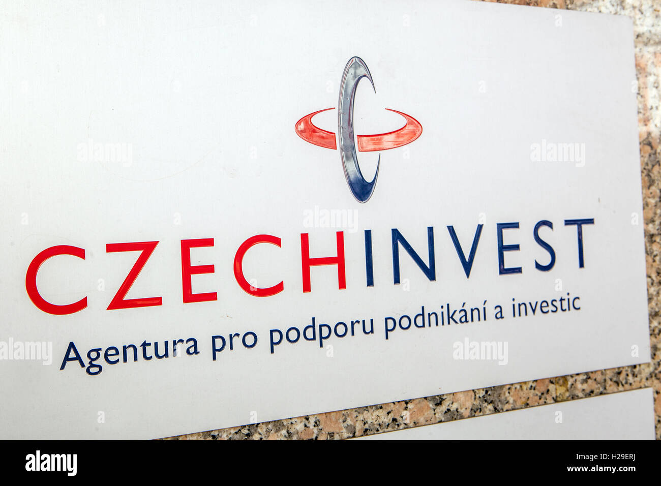 CzechInvest company logo - Stock Image