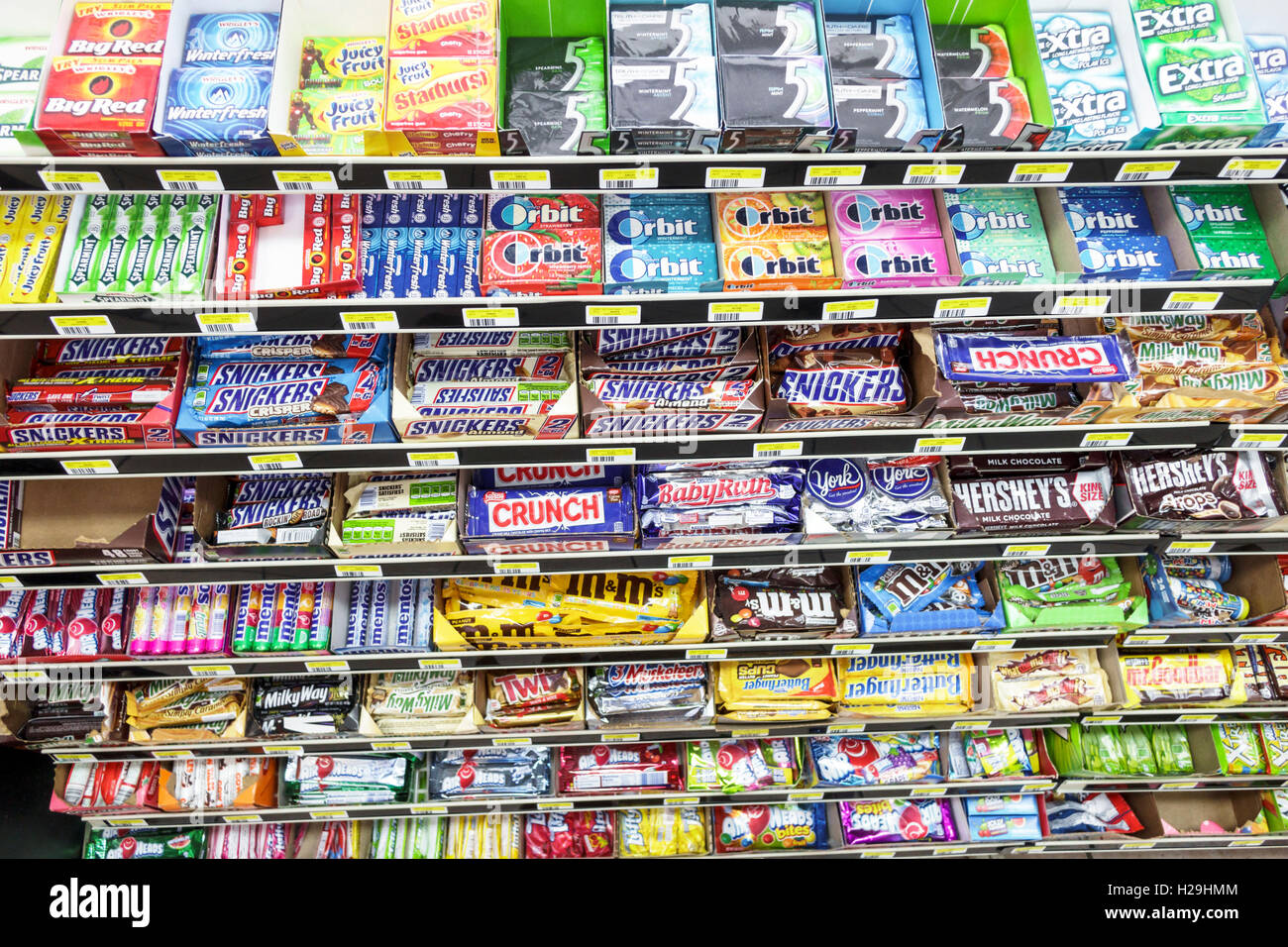 miami florida convenience store candy gum junk food