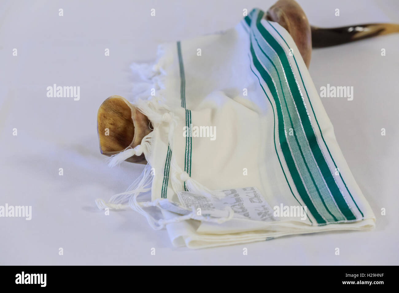 Prayer Shawl Tallit And Shofar Jewish Religious Symbol Stock Photo
