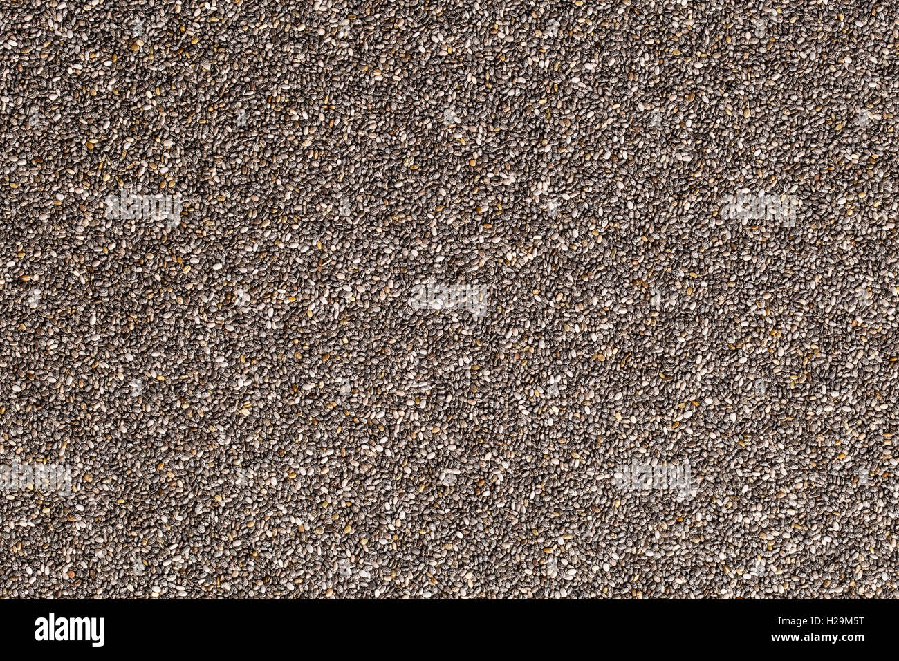 Chia seeds pattern. Top view. Healthy superfood. - Stock Image