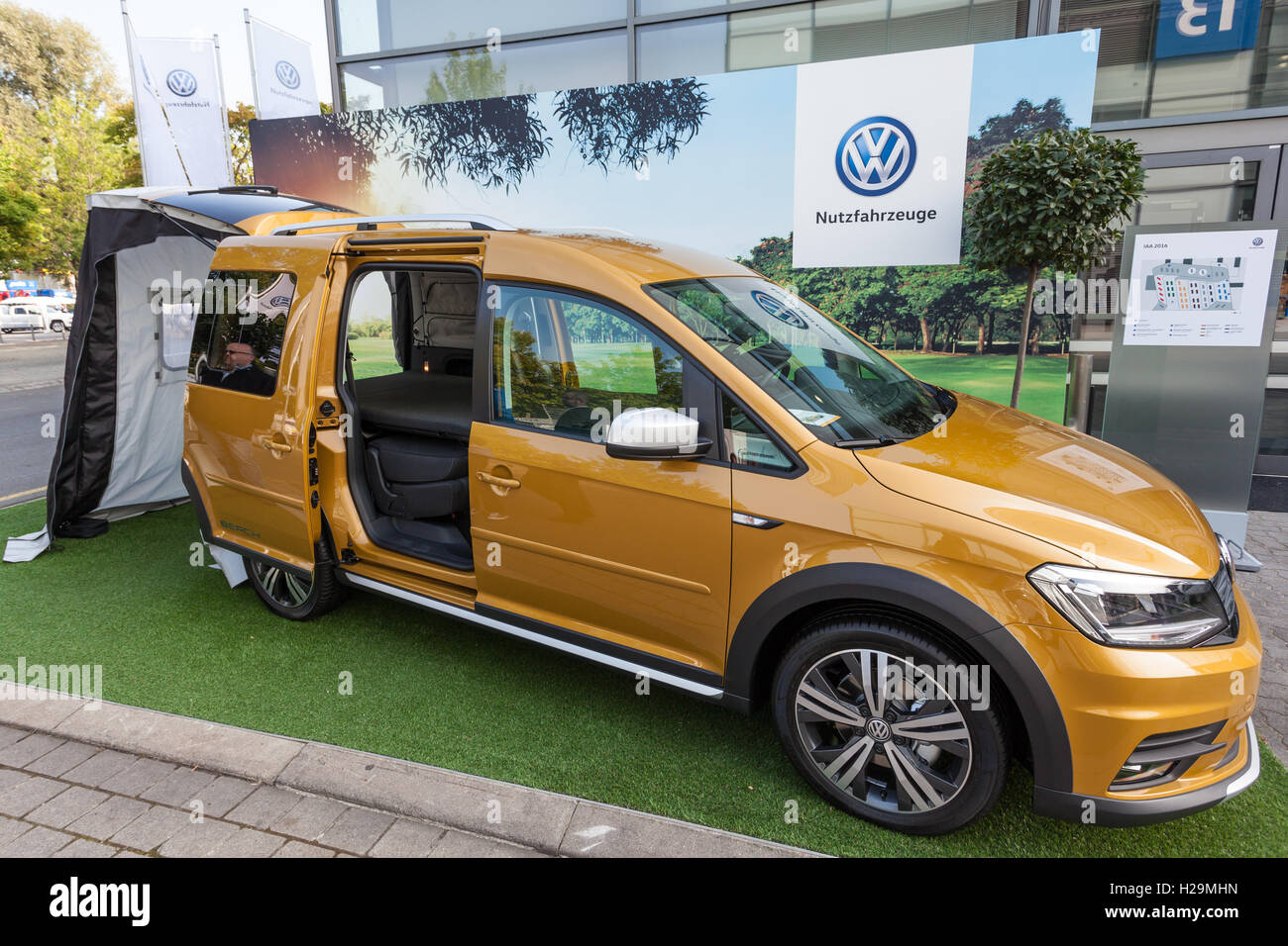 New Volkswagen Caddy Beach Camping Van Stock Photo