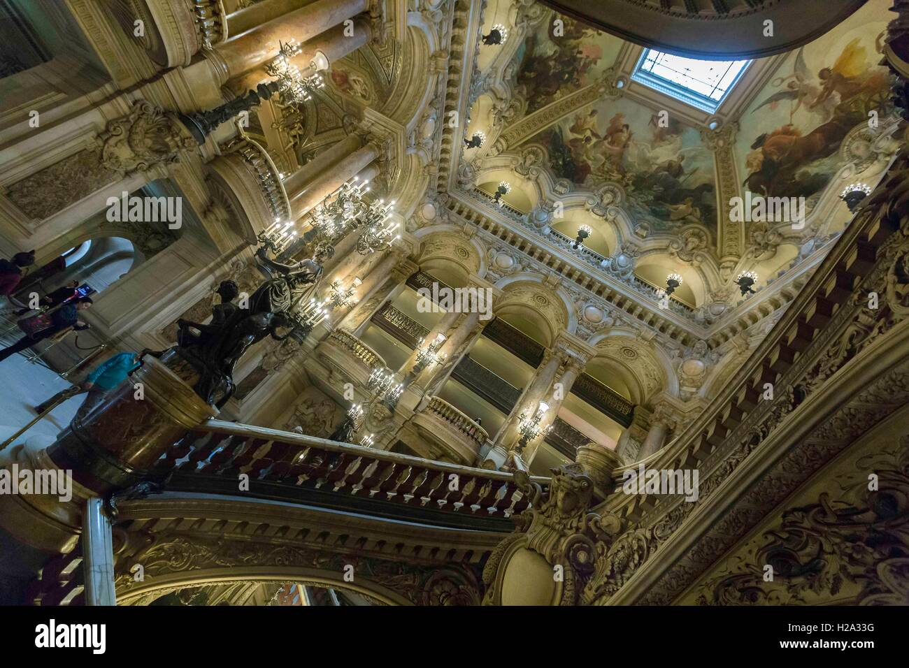 Paris, France. 3rd Sep, 2016. The Palais Garnier is a 1,979-seat opera house in the 9th arrondissement of Paris. - Stock Image