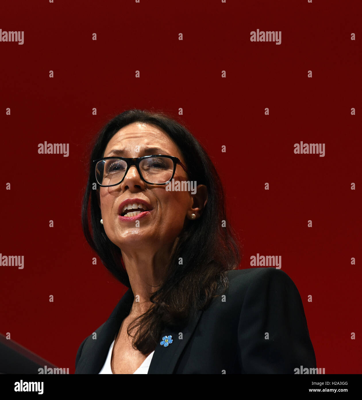Liverpool, UK. 26th September, 2016. Debbie Abrahams MP Shadow Secretary for Work and Pensions speaking at the Labour - Stock Image