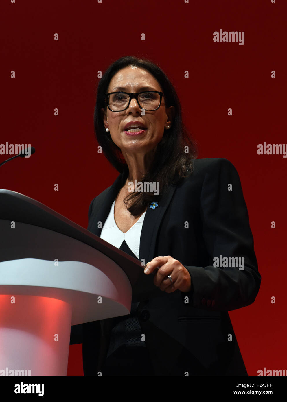 Liverpool, UK. 26th September, 2016. Debbie Abrahams MP Shadow Secretary for Work and Pensions speaking at the  - Stock Image