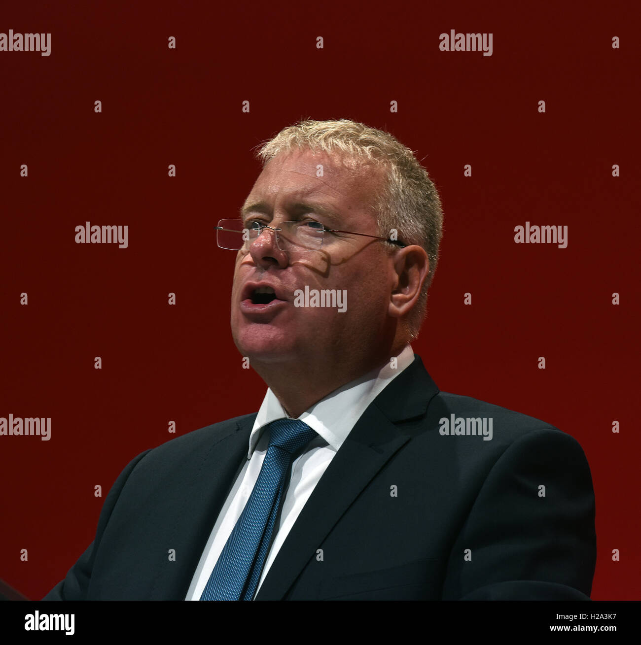 Liverpool, UK. 26th September, 2016. Ian Lavery MP Shadow Minister for Trade Unions and Civil Society Speaking at - Stock Image