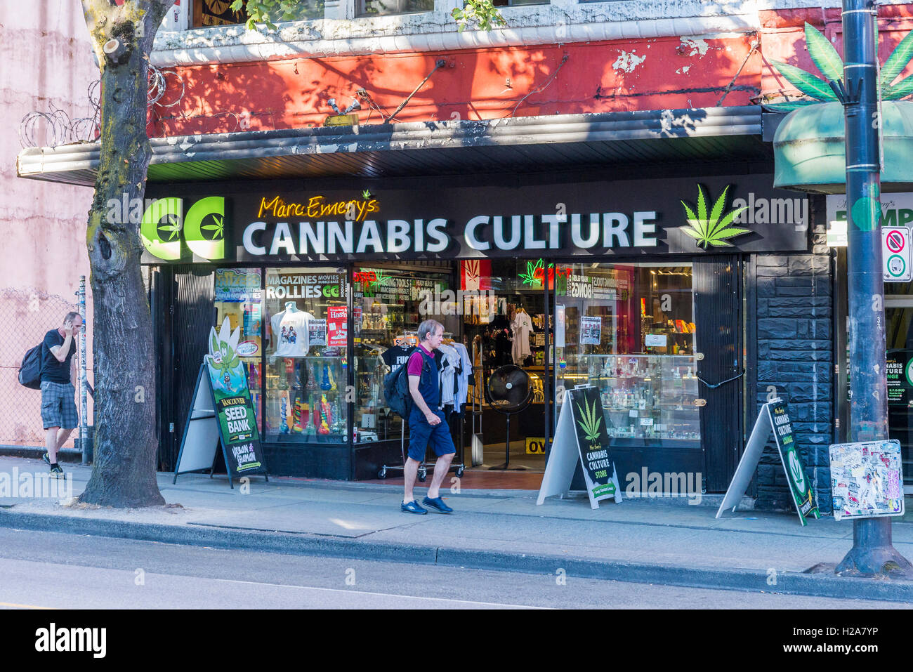 Marc Emery's Cannabis Culture Headquarters East Hastings Street, Downtown Eastside, Vancouver, British Columbia, - Stock Image