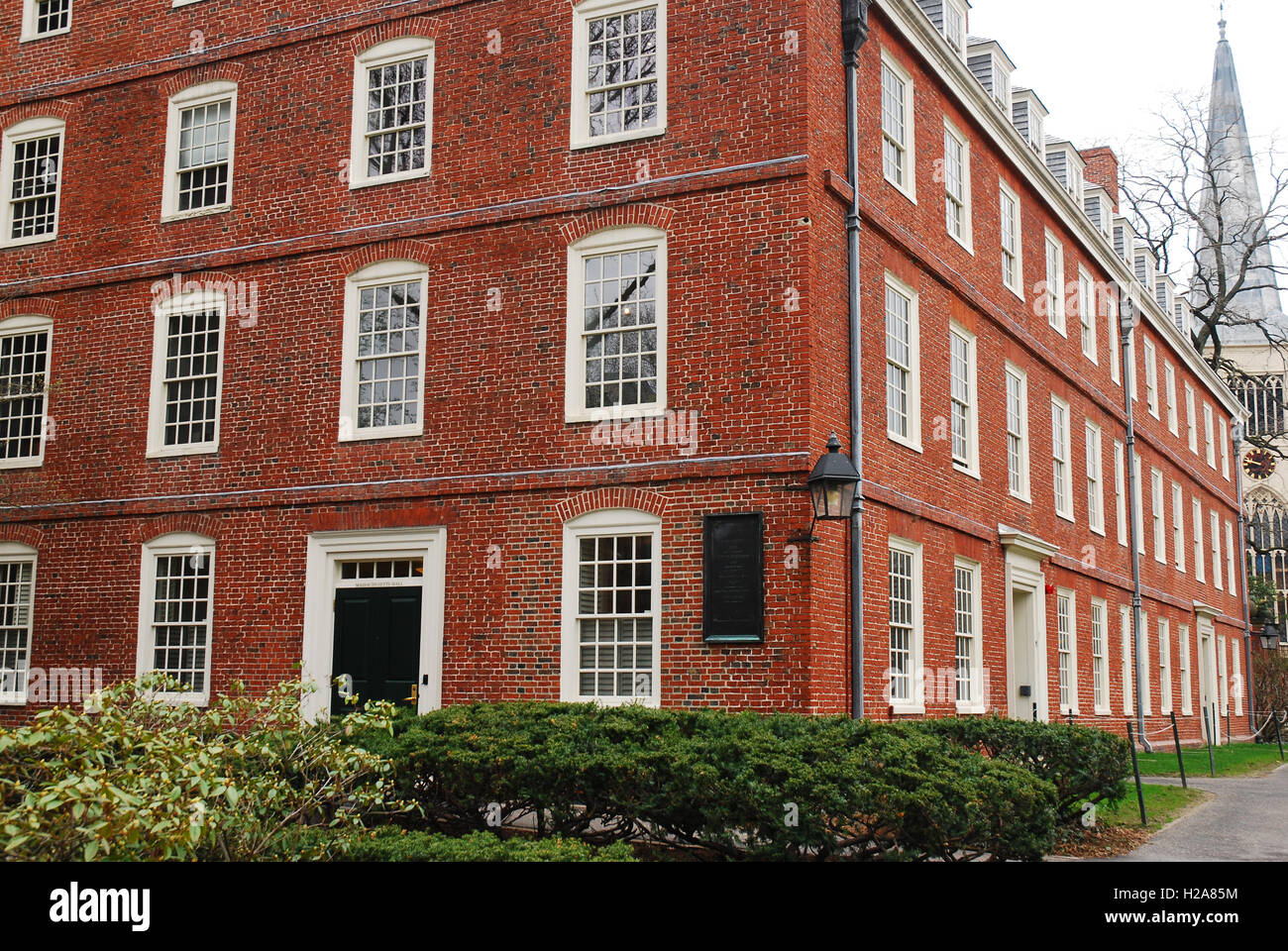 Massachusetts Hall on the cam pus of Harvard University - Stock Image