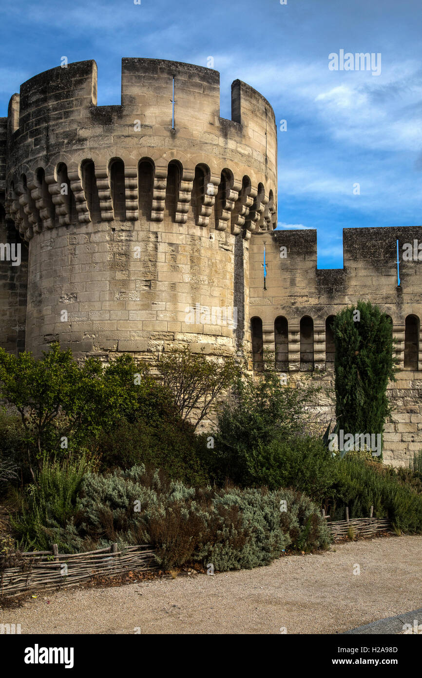 The Ramparts of Avignon encircle the entire old city of Avignon and are more than 4 kilometers long.  They were - Stock Image