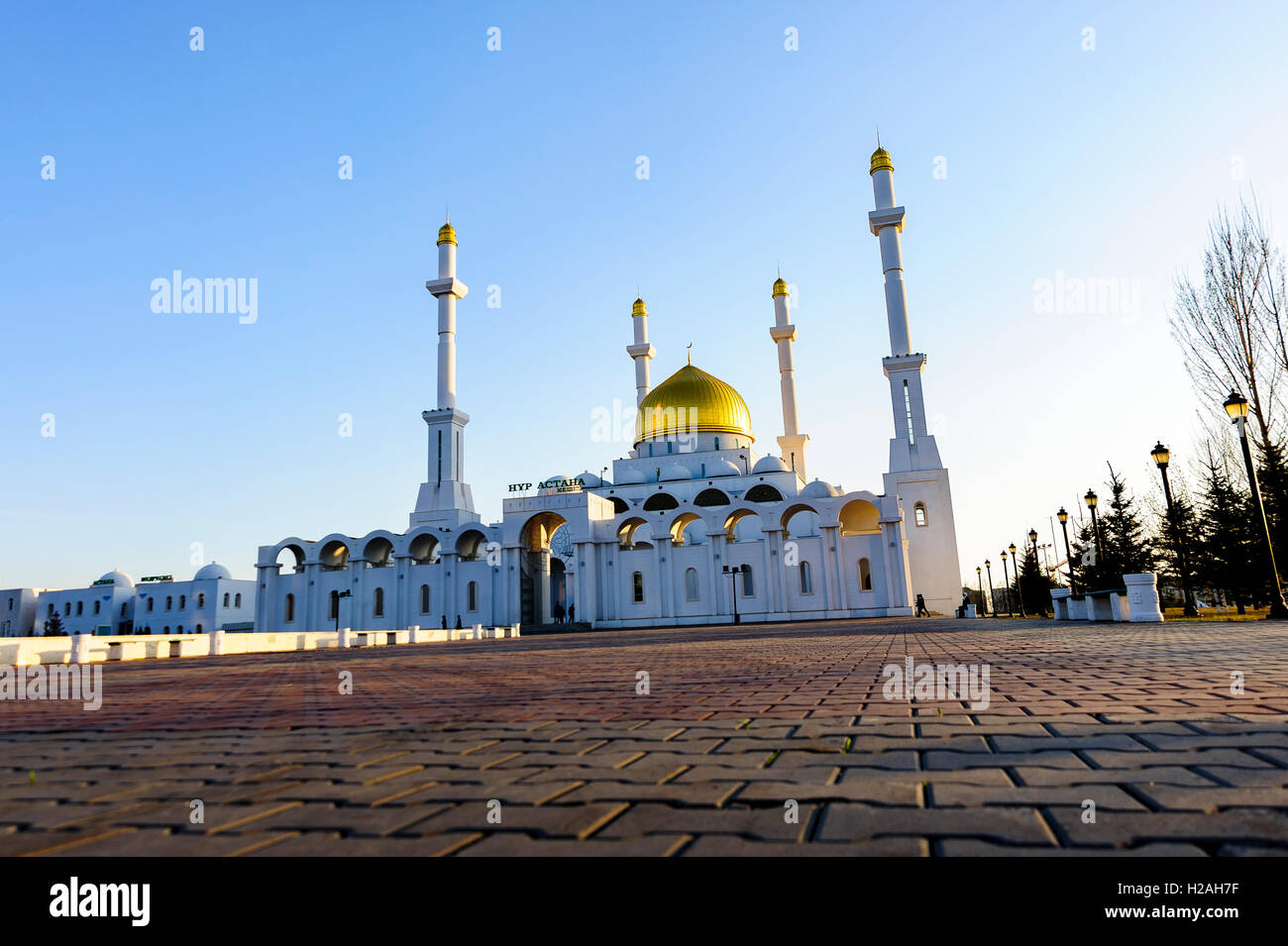 The Nur-Astana Mosque, Astana, Kazakhstan - Stock Image