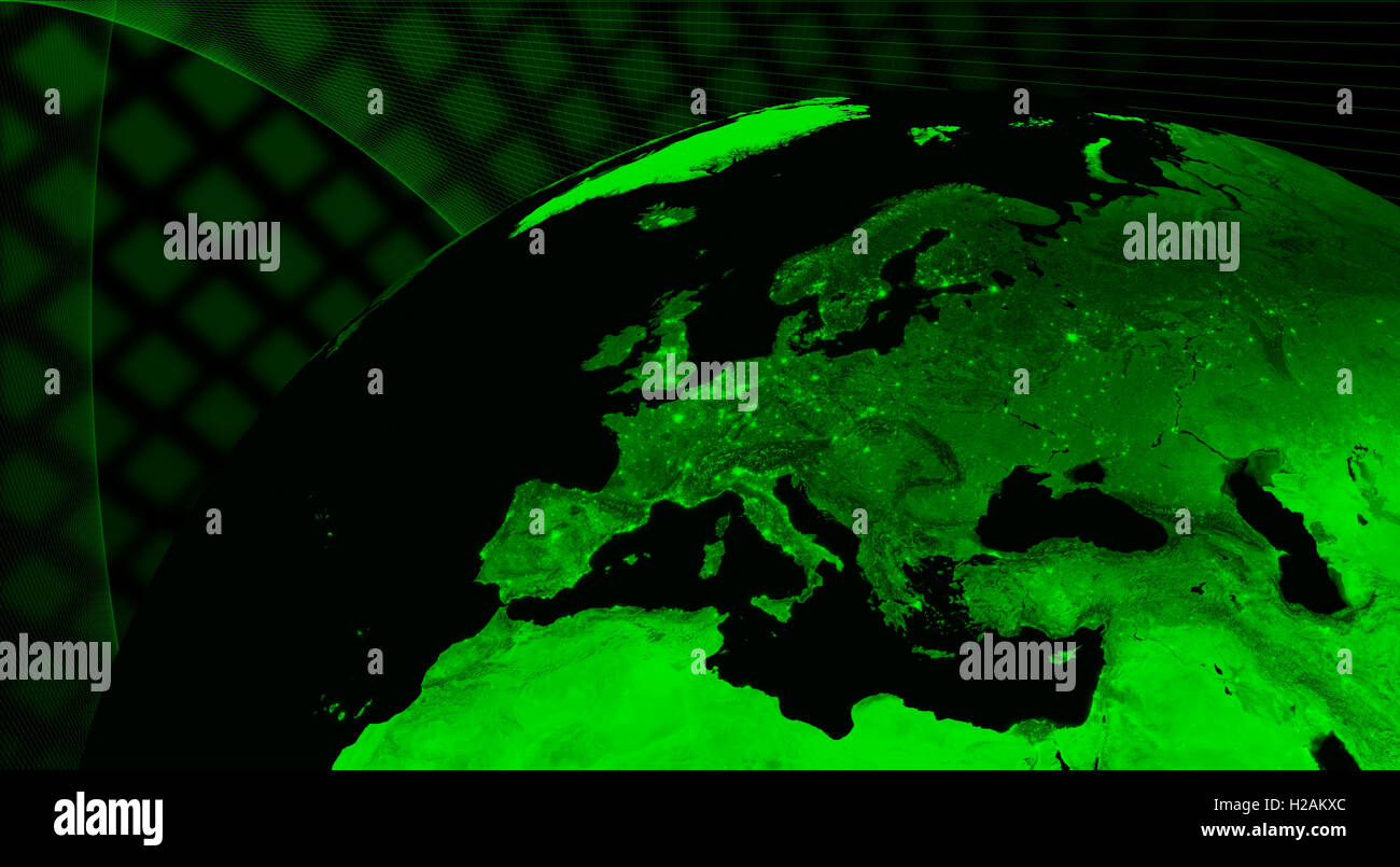 Europe technology concept - Stock Image