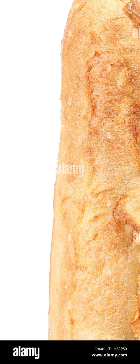 Crackling white bread. Close up. - Stock Image