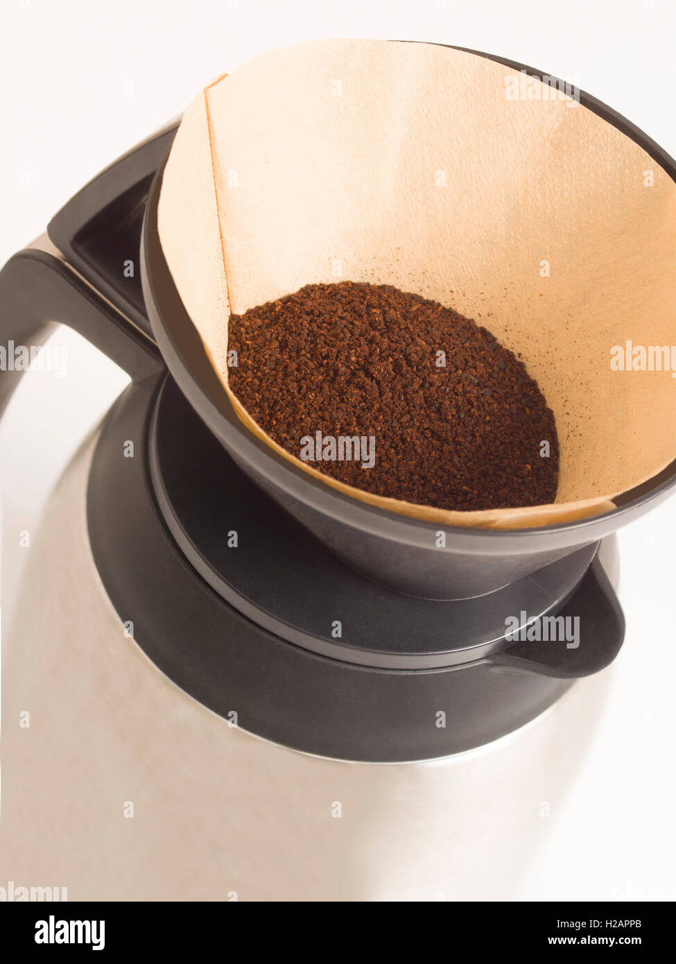 filtered drip coffee - Stock Image