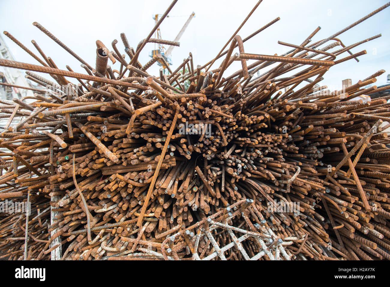 steel scrap heap - Stock Image