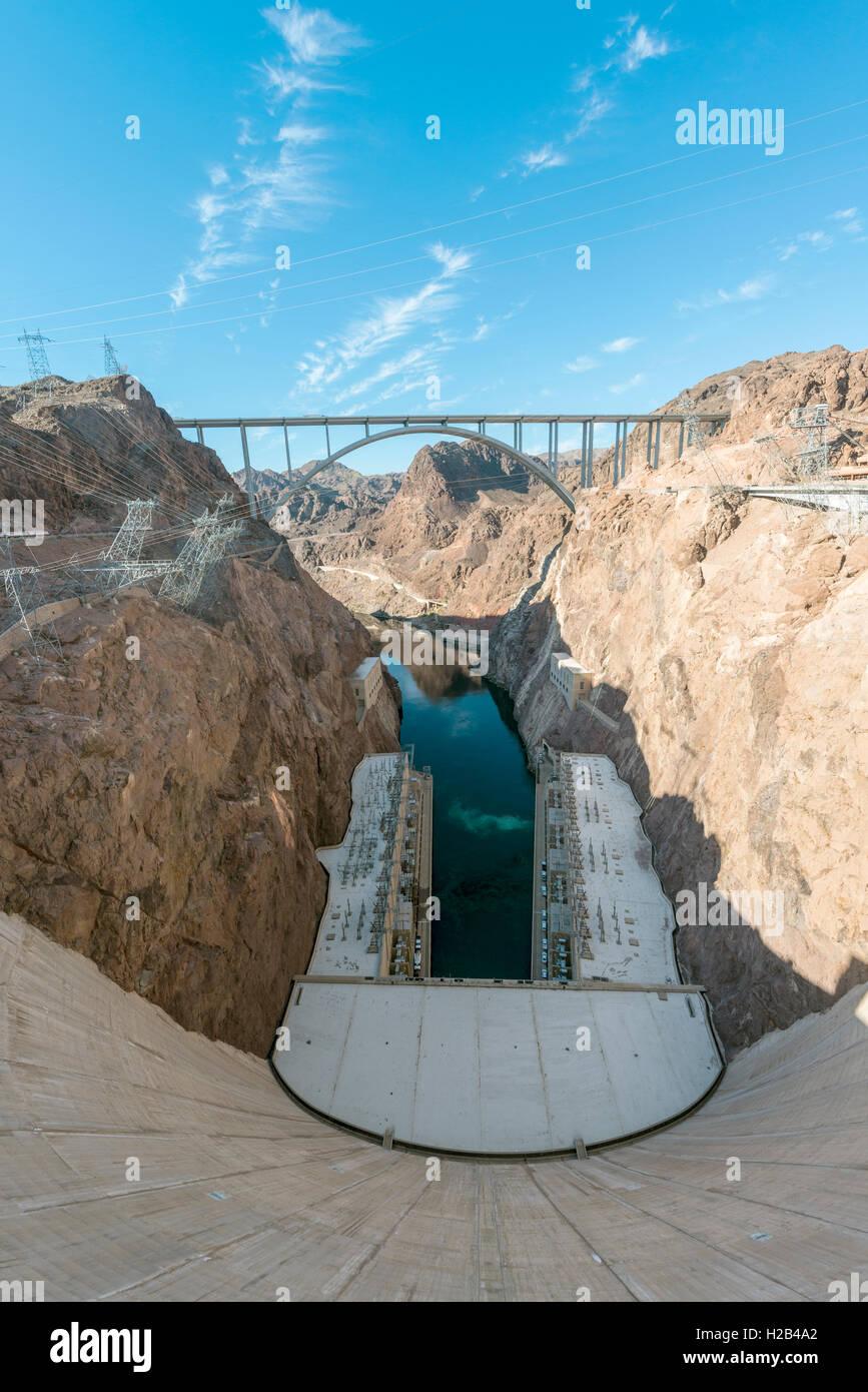 Hoover Dam, Lake Mead Recreation Area, Arizona, Nevada, USA Stock Photo