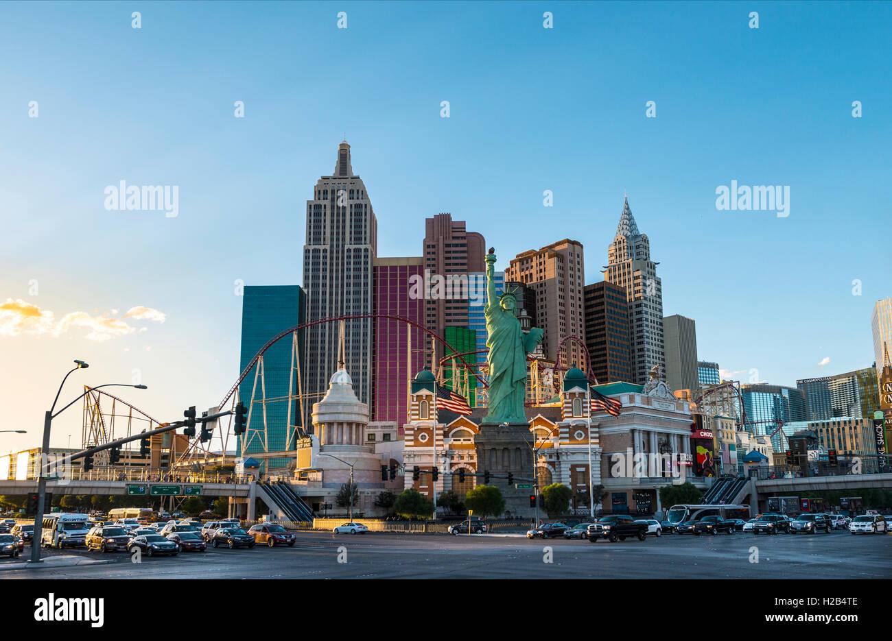 New York New York Hotel and Casino, Las Vegas, Nevada, USA Stock Photo