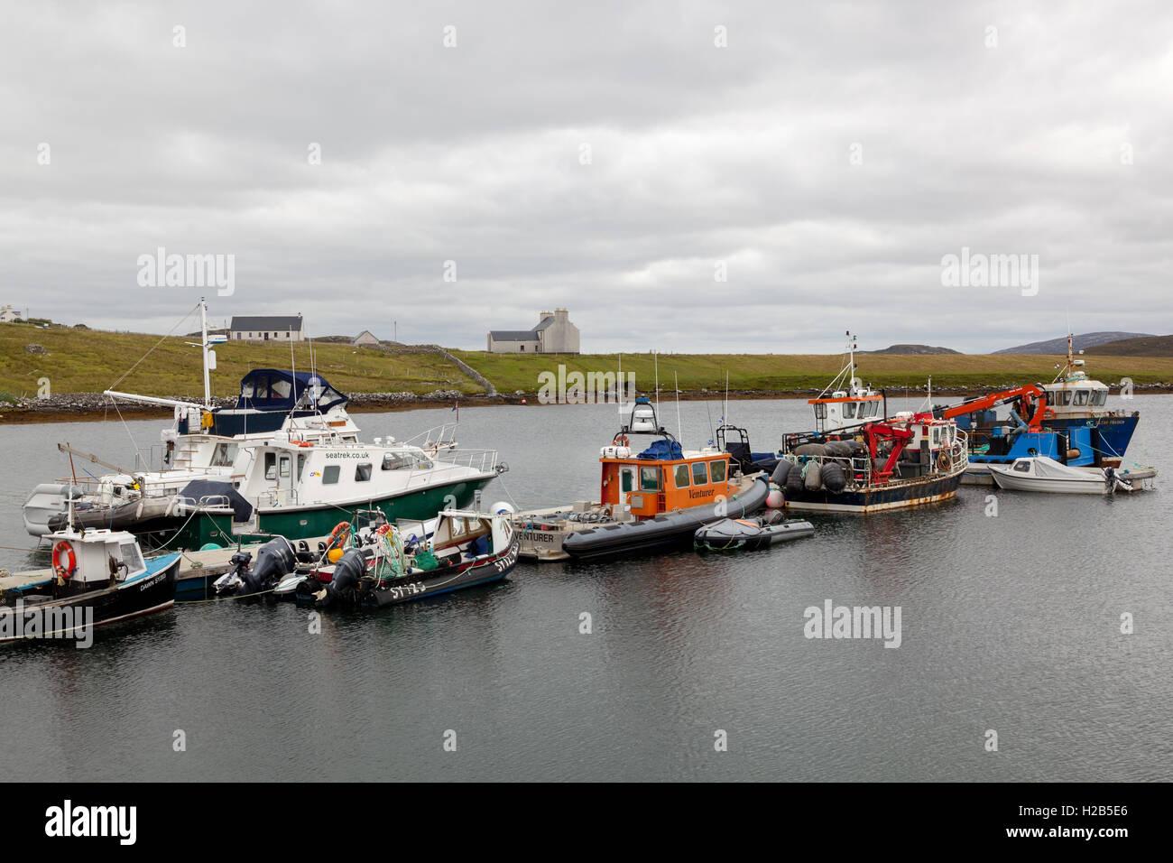 Isle of Lewis, Outer Hebrides, Scotland. Miavaig Harbour Stock Photo