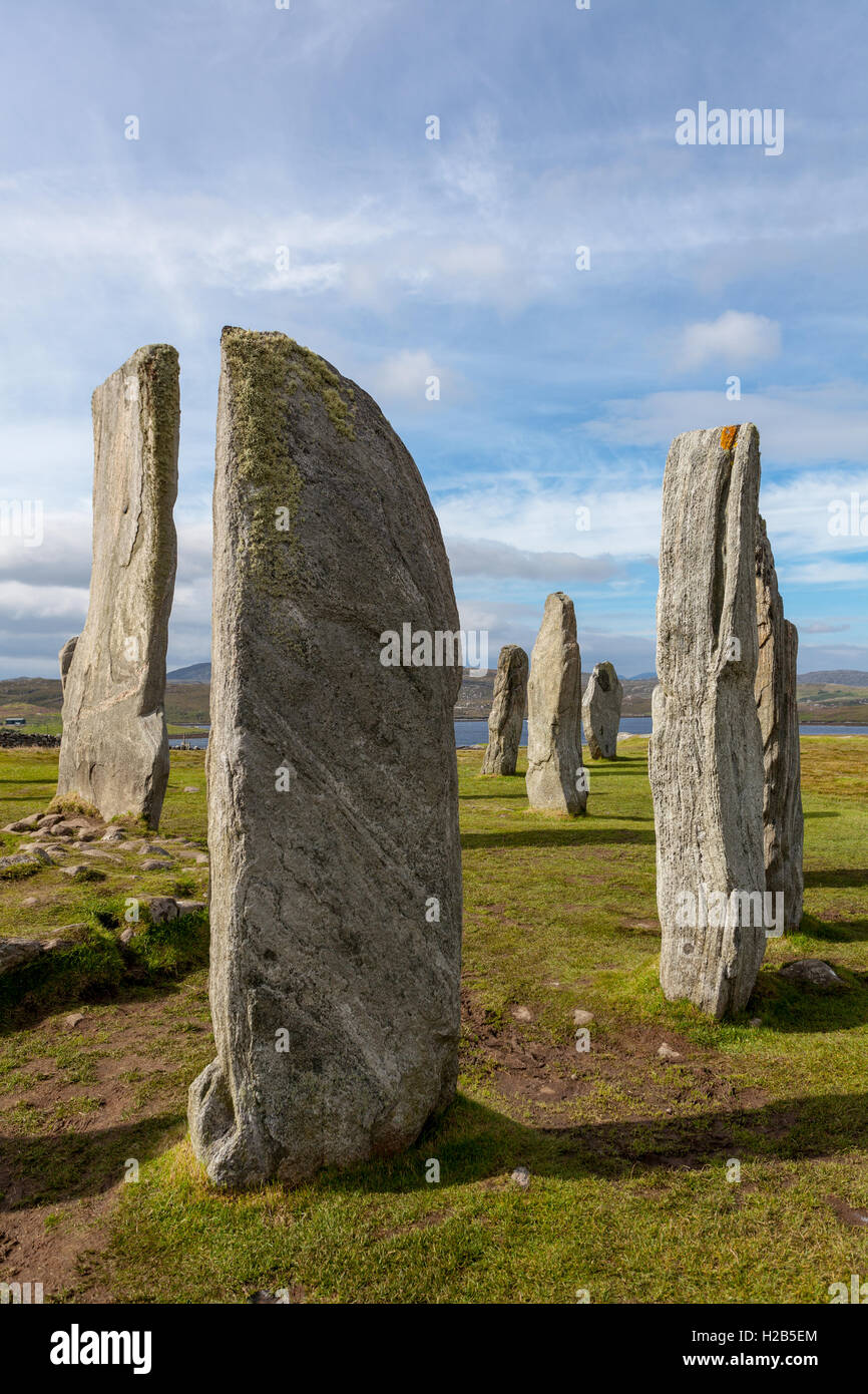 Isle of Lewis, Outer Hebrides, Scotland Callanish Standing Stones erected in the neolithic (4000-2500bc) Stock Photo
