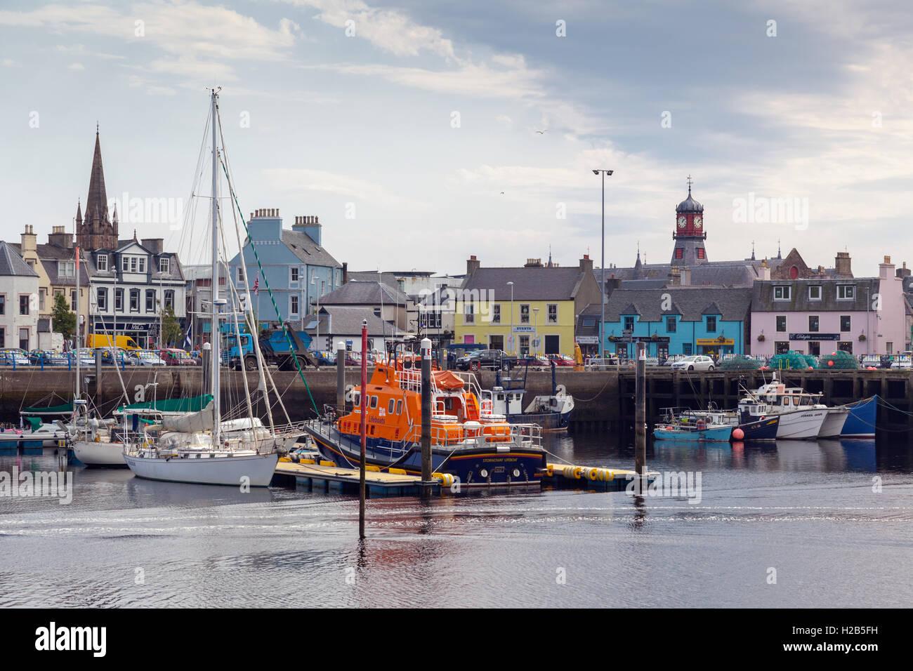 Isle of Lewis, Outer Hebrides, Scotland Stornoway Harbour - Stock Image