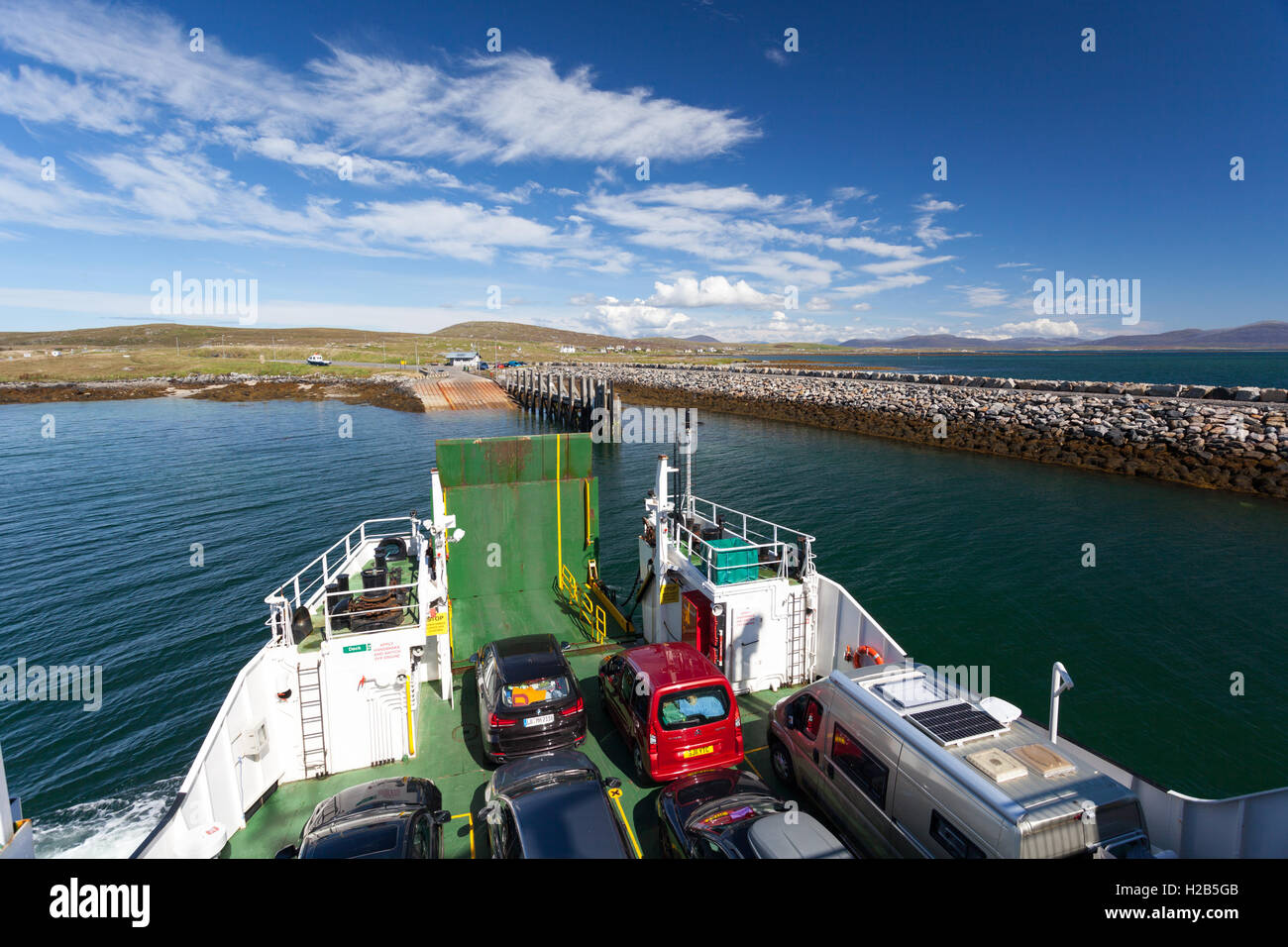 Outer Hebrides, Scotland 'Loch Portain' CalMac Ferry from Leverburgh to Berneray Stock Photo