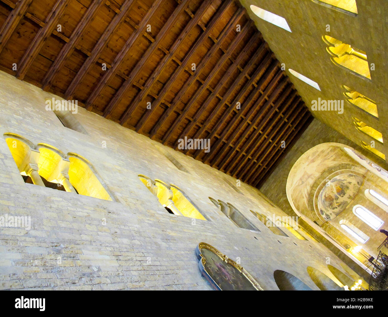 St George's Basilica, Prague Castle,  Prague, Bohemia, Czech Republic - Stock Image