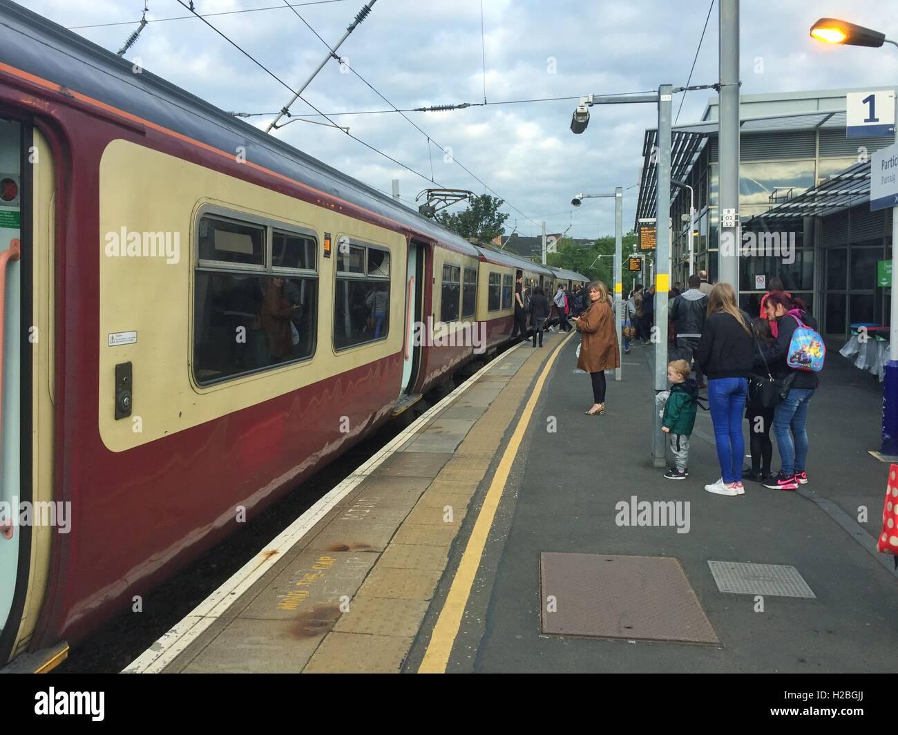 Partick train station, Glasgow, Scotland - Stock Image